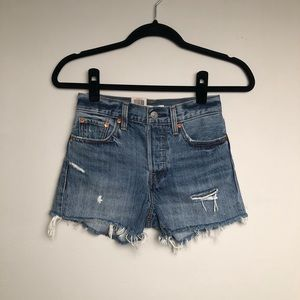 Levi's Wedgie High Rise Waist Jean Cut Off Shorts